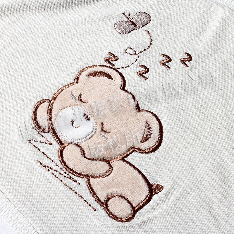 彩棉抱被(单)特写-贴布绣